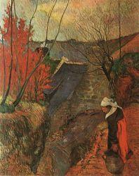 Žena se džbánem. Olej na plátně. 1888. 92×72. Soukromá sbírka, Paříž.