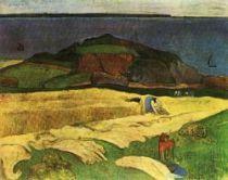 Žně v Le Pouldu. Olej na plátně. 1890. 73×92. Tate Gallery, London.
