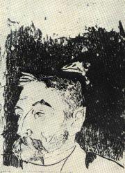 Podobizna básníka Stephana Mallarméa. Lept. 1892.