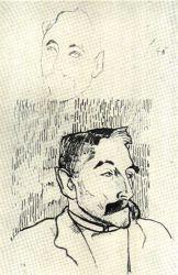 Podobizna básníka Stephana Mallarméa. Kresba olůvkem. 1891.