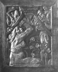 Buďte milenkami, budete šťastné (Soyez amoureuses, vous serez heureuses). Polychromovaný dřevěný reliéf. 1901. 103×72. Museum of Fine Arts, Boston.