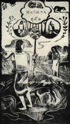 Noa Noa. Zamýšlen jako titulní strana stejnojmenné knihy. Poprvé otištěn 1921.