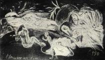 Dřevoryt z Gauguinovy pozůstalosti. Poprvé otištěn 1921.