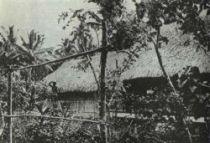 Dům, který Gauguin postavil na úvěr v Punaauia roku 1897.