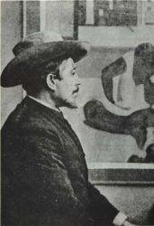 Zima 1893-94, poslední dochovaná fotografie. V pozadí obraz Nevrlost neprodaný na výstavě u Durand-Ruela.