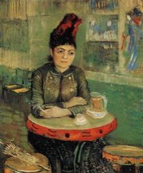 Agostina Segatoriová v Café de Tambourin. 1887. 91×71. Národní muzeum Vincenta van Gogha, Amsterdam.