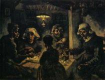 Jedlíci brambor. 1885. 82×114. Národní muzeum Vincenta van Gogha, Amsterdam.