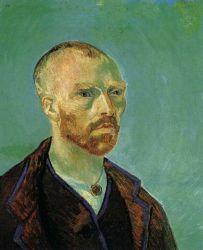 Autoportrét : Mému příteli Paulu Gauguinovi (namalován krátce předtím než na něj údajně Vincent zaútočil břitvou). 1888. 60,5×49,4. Harvard University, Collection of Maurice Wertheim, Class of 1906.