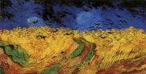 Obilné pole s havrany. 1890. 50,5×100,5. Národní muzeum Vincenta van Gogha, Amsterdam.