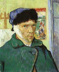Vlastní portrét se zavázaným uchem. 1887. The Detroit Institute of Arts, Detroit.