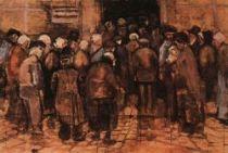 Před loterií, Haag, říjen 1882, akvarel, 38×57, Národní muzeum Vincenta van Gogha, Amsterdam.