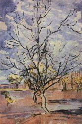 Kvetoucí strom, Arles, březen 1888, uhel a akvarel, 45,5×30,5, Národní muzeum Vincenta van Gogha, Amsterdam.