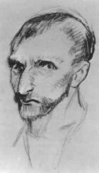 Autoportrét, Paříž, léto 1887, tužka, 19,3×21, Národní muzeum Vincenta van Gogha.