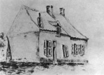 Dům Magrosových, Cuesmes, 1879, uhel, 23×29,5.