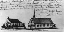 Kostely v Pereshamu a Turnham Greenu, Isleworth, listopad 1876, pero, tužka, 4×10 (z dopisu č. 82).