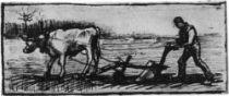Oráč, Nuenen, srpen 1884, pero a inkoust, 5,5×15,5, R. W. van Hoey Smith, Rockanje (Nizozemí).
