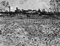 Pohled na Arles, Arles, červen 1888, pero, 24×31,5, Umělecké muzeum, Winterthur.