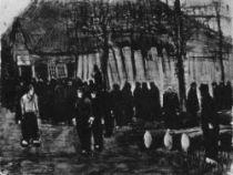 Prodejci dřeva, Nuene, leden 1884, akvarel, 33,5×44,5, Národní muzeum Vincenta van Gogha, Amsterdam.