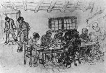 Rolníci při jídle, Saint-Rémy, duben 1890, černá křída, 34×50, Národní muzeum Vincenta van Gogha.