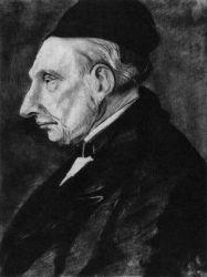 Theodorus van Gogh (Vincentův otec), Etten, červenec 1881, tužka, černý inkoust, 33×25, Sbírka madam A. R. W. Nieuwenhuizen Segaar-Aarse, Haag.