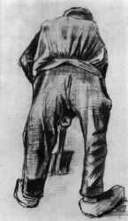 Muž s rýčem, Haag, listopad 1882, tužka, 49,5×28,5, Nárosní muzeum Vincenta van Gogha, Amsterdam.