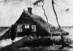 Chýše na vřesovišti, Drenthe, říjen 1883, tužka, 22,5×29, Národní muzeum Kröller-Müller, Otterlo.