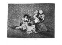 Žena dodává kuráž. (Los desastres de la guerra, č. 4: Las mujeres dan valor.)