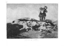 Pohřbít a mlčet. (Los desastres de la guerra, č. 18: Enterrar y callar.)