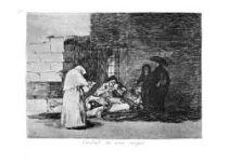 Milosrdenství od jedné ženy. (Los desastres de la guerra, č. 49: Caridad de una mujer.)