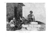 Marný nářek. (Los desastres de la guerra, č. 54: Clamores en vano.)
