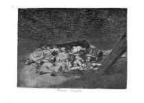 Sebraní mrtví. (Los desastres de la guerra, č. 63: Muertos recogidos.)
