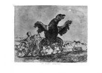 Sup masožravý. (Los desastres de la guerra, č. 76: El buitre carnívoro.)