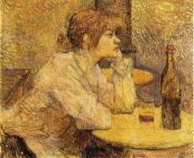Henri de Toulouse-Lautrec: Žena se skleničkou