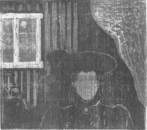 Měsíční svit. Dřevořezba. 1896. 41,2 × 46,5.
