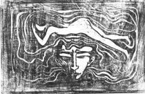 V hlavě mužů. Dřevořezba. 1897. 37,2 × 56,7.