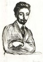 Portrét Helga Rodeho. Dřevořezba. 1898. 27,5 × 20,6.