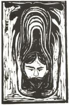 Salome-Parafráze. Dřevořezba. 1898. 40 × 25.