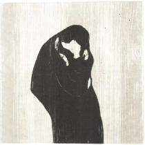 Polibek. Dřevořezba. 1902. 46,6 × 47,4.