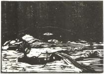 Zasněžená krajina. Dřevořezba. 1898. 32,3 × 45,3.