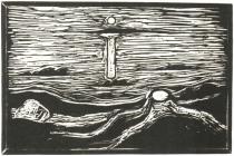 Mořská krajina. Dřevořezba. 1898. 37,2 × 57,2.