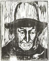 Starý lodník. Dřevořezba. 1899. 44,2 × 35,3.