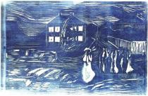 Bouřlivá noc. Dřevořezba. 1909. 21,6 × 33,5.