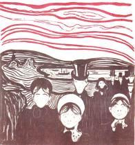 Úzkost. Dvojbarevná litografie. 1896. 41,2 × 38,5.
