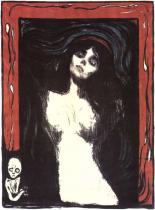 Madona (Početí). Barevná litografie. 1895. 60,7 × 44,3.