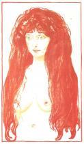 Modelka (Hřích). Barevná litografie. 1901. 49,5 × 39,8.