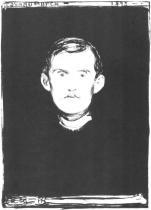 Vlastní portrét. Litografie. 1895. 45,7 × 32.