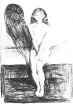 Mladá modelka. Litografie. 1894. 40 × 27,5.