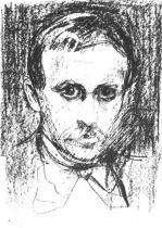 Portrét Sighjørna Obstfeldera. Litografie. 1896. 36× 27,5.