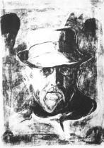 Portrét Hanse Jägera. Litografie. 1896. 46 × 33.