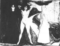 Žena (Sfinga). Litografie. 1899. 46 × 59,4.